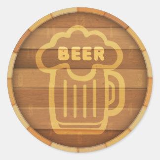 Adesivo Redondo Barril de cerveja
