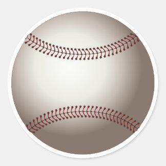 Adesivo Redondo Basebol branco clássico