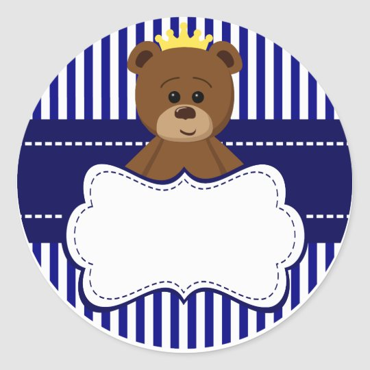 Adesivo Redondo Bear King - Round Sticker