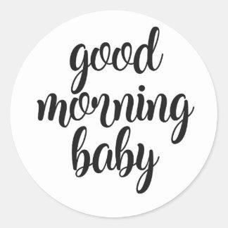 Adesivo Redondo Bebê do bom dia