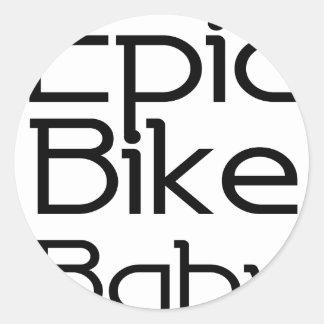 Adesivo Redondo Bebê épico da bicicleta