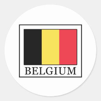 Adesivo Redondo Bélgica