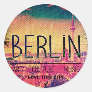 Adesivo Redondo Berlin, Love This City series, circle