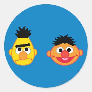 Adesivo Redondo Bert & Ernie Emojis