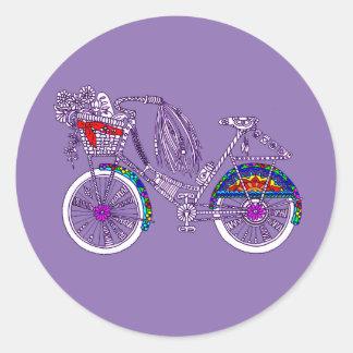 Adesivo Redondo Bicicleta