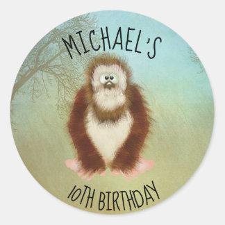 Adesivo Redondo Bigfoot/aniversário de Squatch