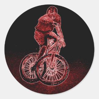 Adesivo Redondo Biking da montanha
