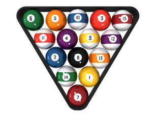 Adesivo Redondo Bilhar bolas de piscina submetidas  95b39e8594bb3