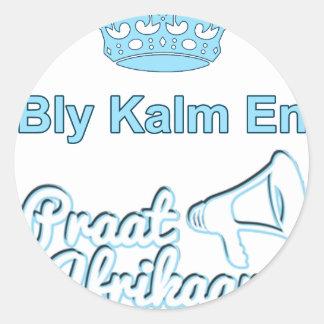 Adesivo Redondo Bly-Kalm-En-Praat-Holandês sul-africano