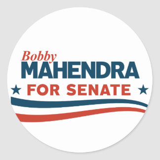 Adesivo Redondo Bobby Mahendra para o Senado