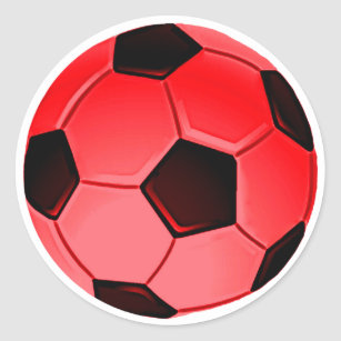 6294876ad9 Adesivo Redondo Bola americana vermelha do futebol ou do futebol