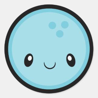 Adesivo Redondo Bola de boliche Emoji