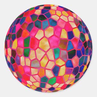 Adesivo Redondo Bola de cristal de incandescência vermelha leve do