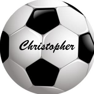e5668c0016 Adesivo Redondo Bola de futebol customizável do futebol