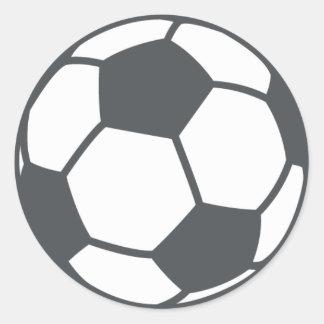 Adesivo Redondo Bola de futebol Emoji