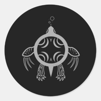 Adesivo Redondo Bolhas da tartaruga de mar