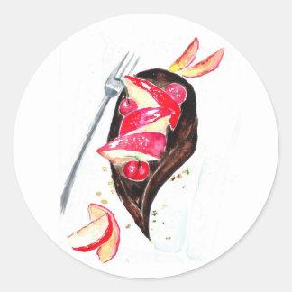 Adesivo Redondo Bolo de chocolate