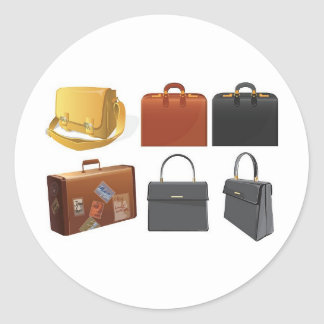 Adesivo Redondo bolsas-malas de viagem