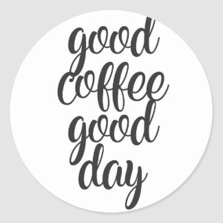 Adesivo Redondo Bom dia do bom café