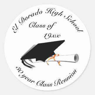 Adesivo Redondo Boné de formatura - reunião de segundo grau