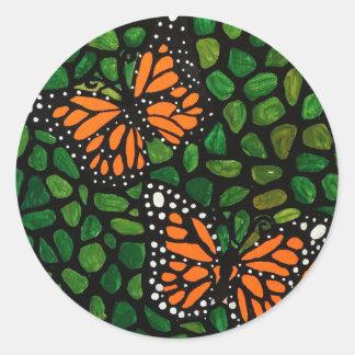Adesivo Redondo borboletas