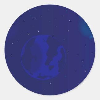 Adesivo Redondo Borrão da galáxia