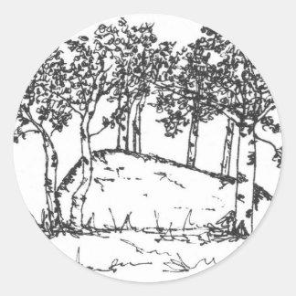 Adesivo Redondo Bosque de Aspen