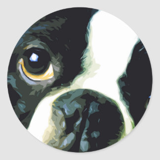 Adesivo Redondo Boston grande moderna Terrier