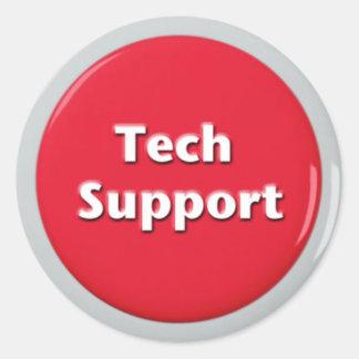 Adesivo Redondo Botão de pânico vermelho do suporte técnico