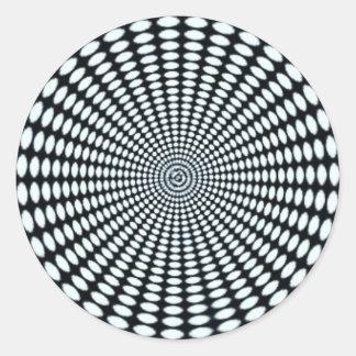 Adesivo Redondo Botão visual Trippy da ilusão