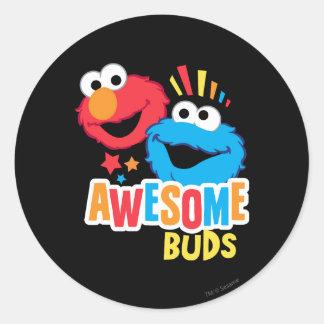 Adesivo Redondo Botões impressionantes de Elmo e de biscoito