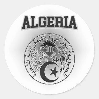 Adesivo Redondo Brasão de Argélia