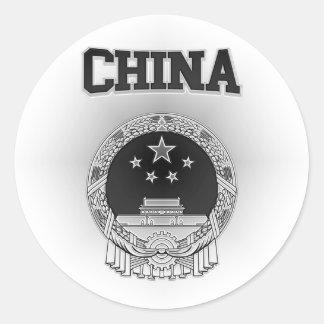 Adesivo Redondo Brasão de China
