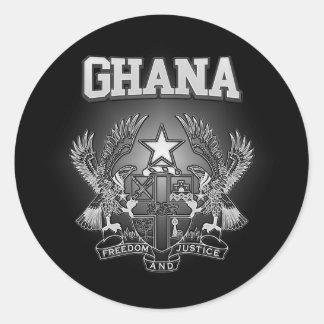 Adesivo Redondo Brasão de Ghana