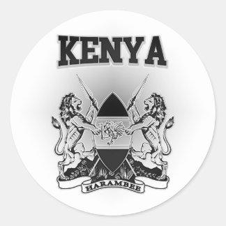 Adesivo Redondo Brasão de Kenya