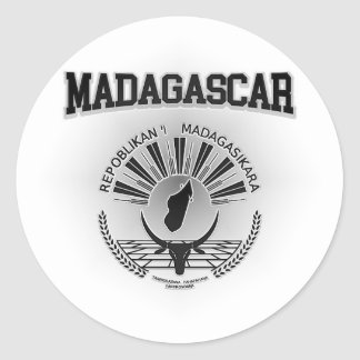 Adesivo Redondo Brasão de Madagascar