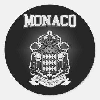 Adesivo Redondo Brasão de Monaco