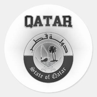 Adesivo Redondo Brasão de Qatar