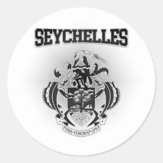 Adesivo Redondo Brasão de Seychelles