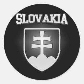 Adesivo Redondo Brasão de Slovakia