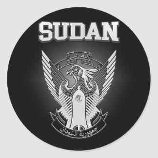 Adesivo Redondo Brasão de Sudão