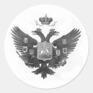 Adesivo Redondo Brasão do russo
