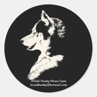 Adesivo Redondo brasil husky