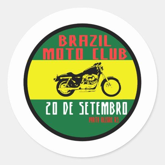 Adesivo Redondo Brazil moto club