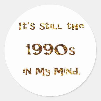 Adesivo Redondo brilho do ouro da nostalgia dos anos 90
