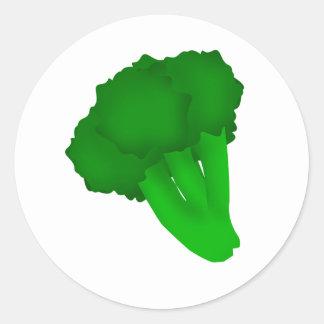Adesivo Redondo Brócolos