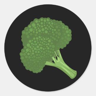 Adesivo Redondo Brócolos da comida do pulso aleatório