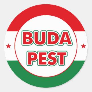 Adesivo Redondo Budapest, circle, color