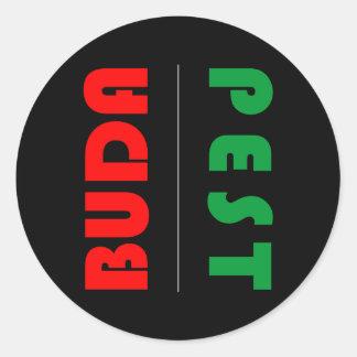 Adesivo Redondo Budapest minimalist - circle - 01