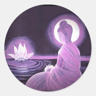 Adesivo Redondo Buddha